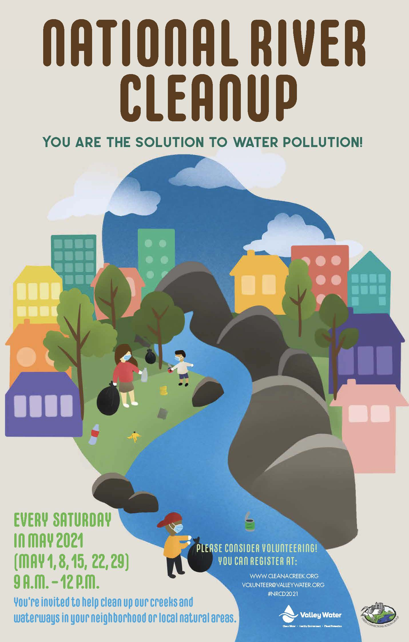 National River Cleanup Month Event Poster 2021